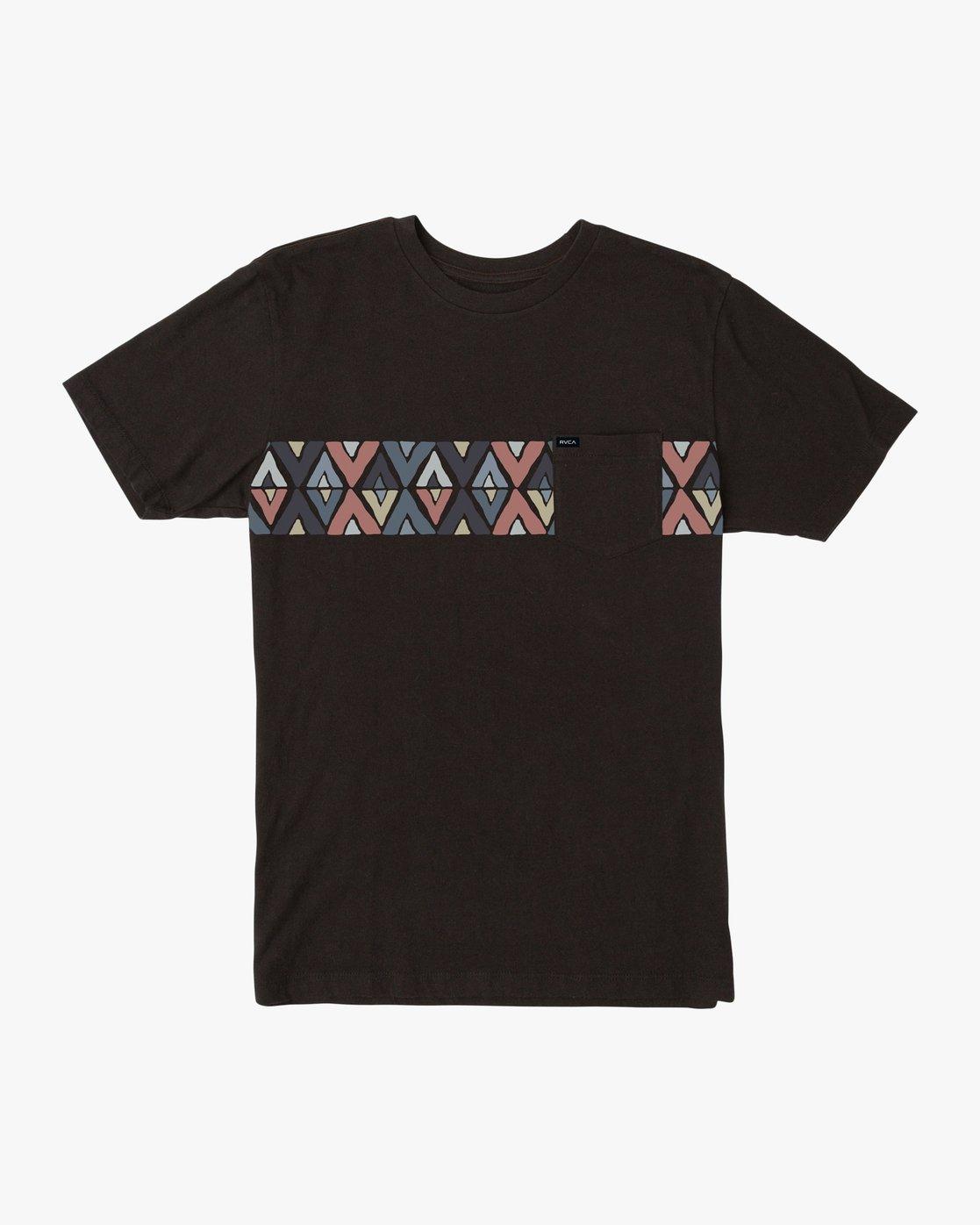 0 Mod Stripe Pocket T-Shirt  M436SRMO RVCA