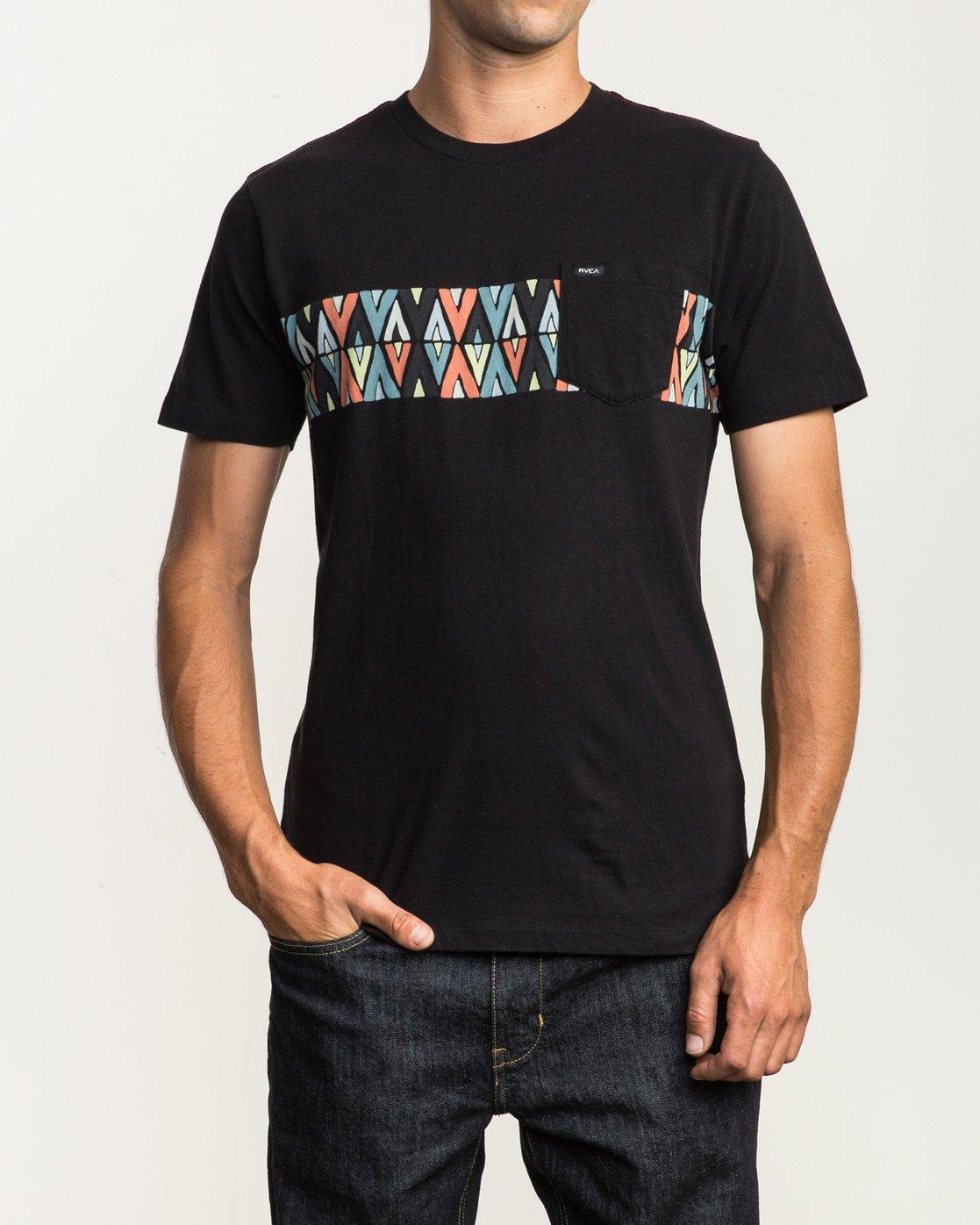1 Mod Stripe Pocket T-Shirt  M436SRMO RVCA