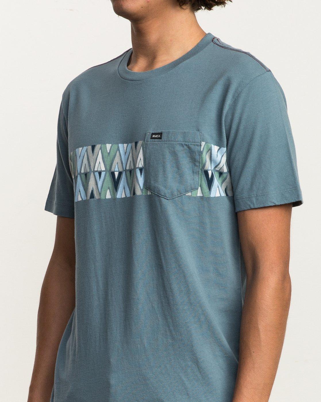 4 Mod Stripe Pocket T-Shirt Blue M436SRMO RVCA