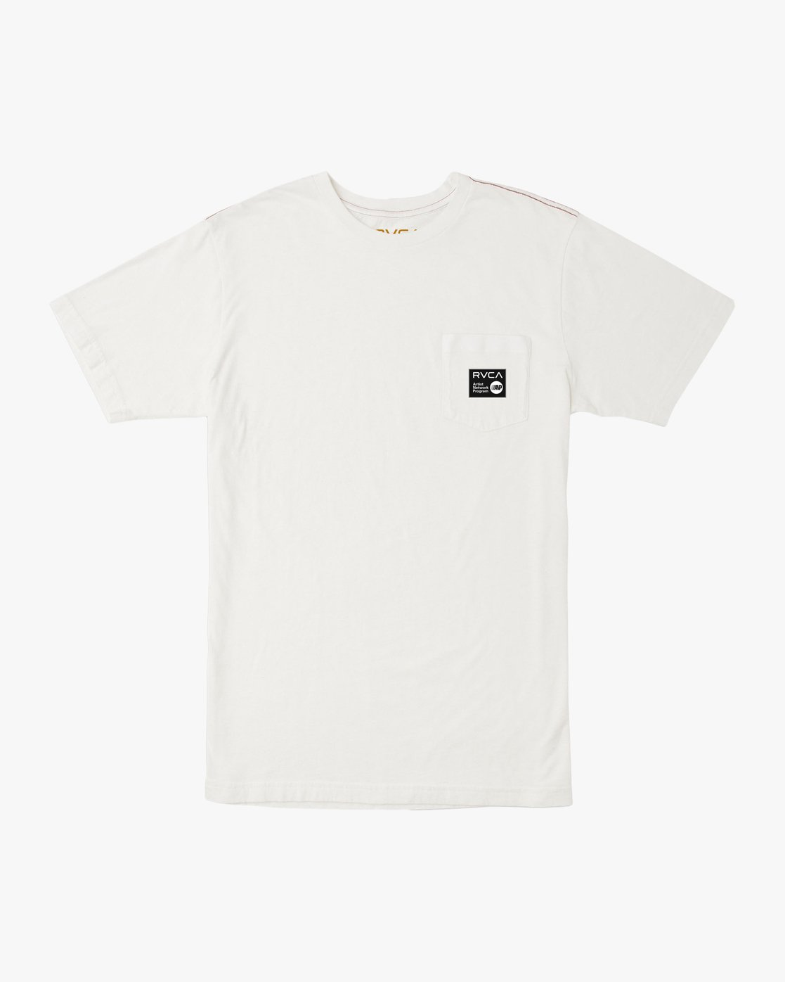 0 ANP Pocket T-Shirt White M436TRAN RVCA