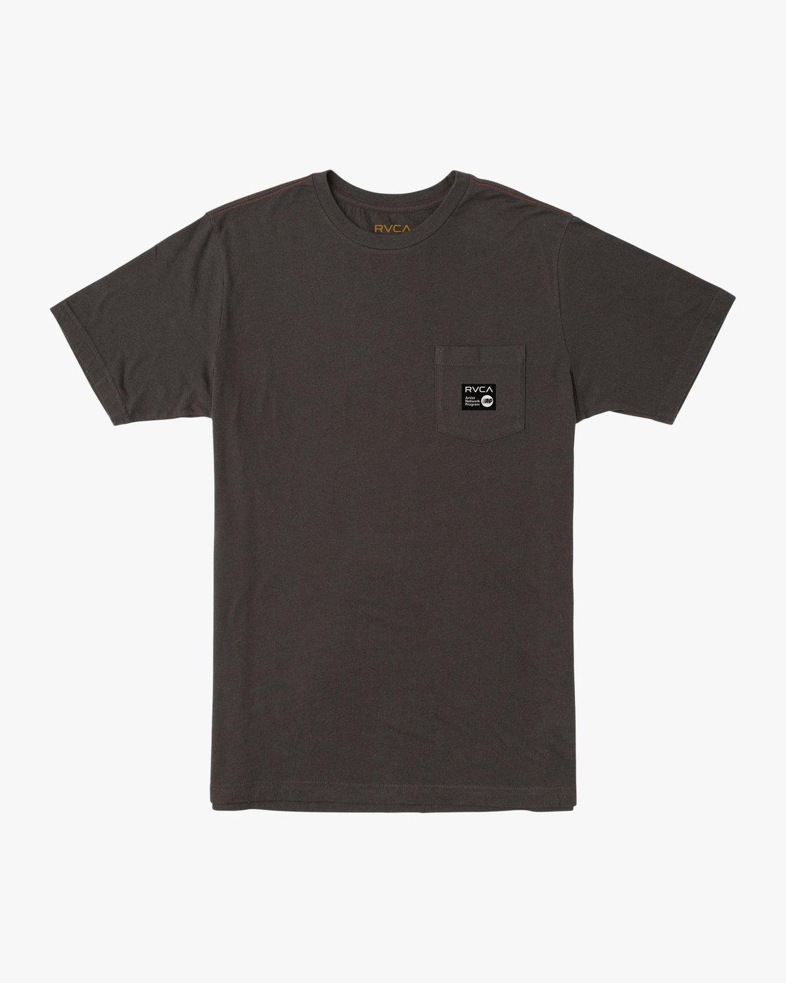 0 ANP Pocket T-Shirt Black M436TRAN RVCA
