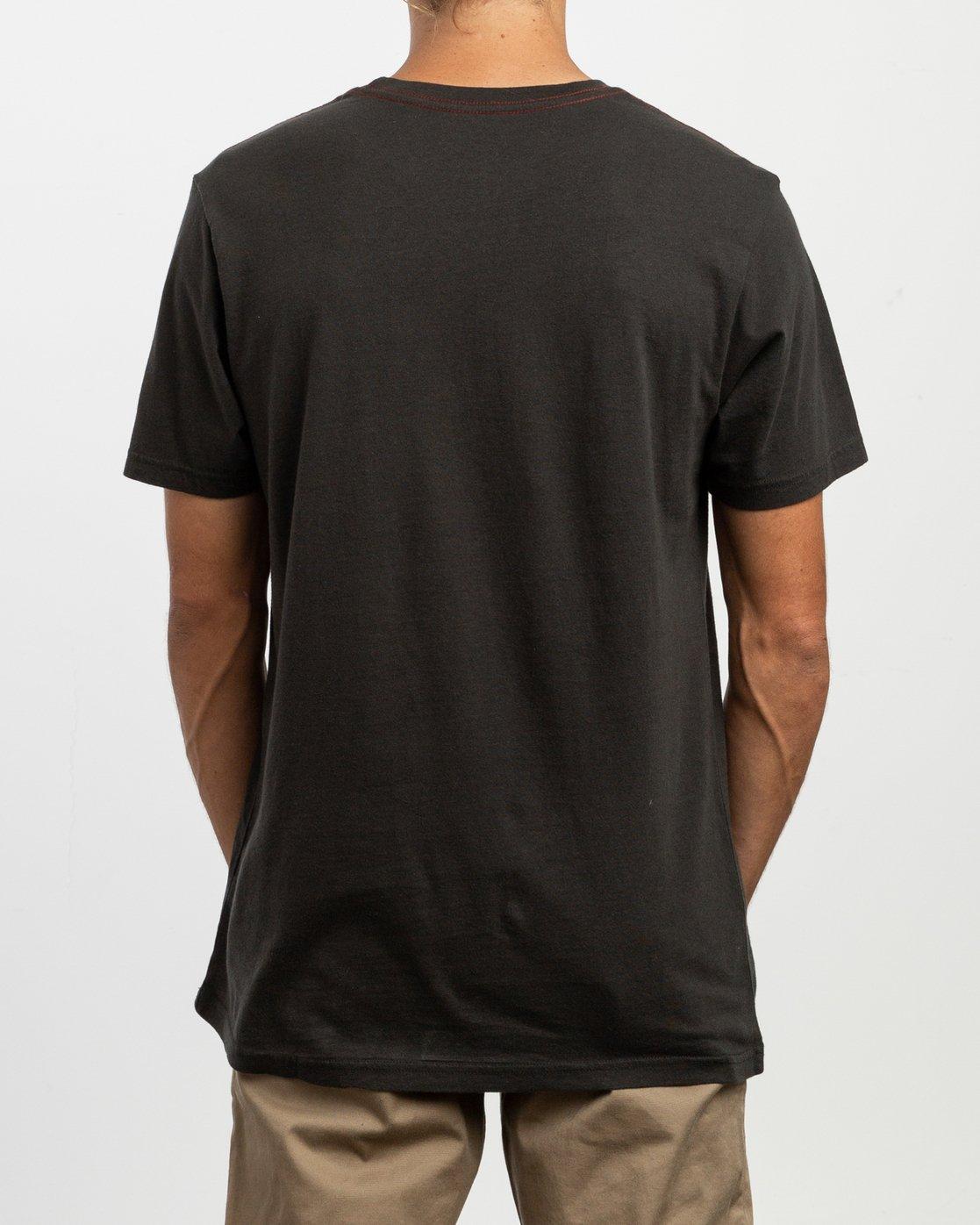 3 ANP Pocket T-Shirt Black M436TRAN RVCA