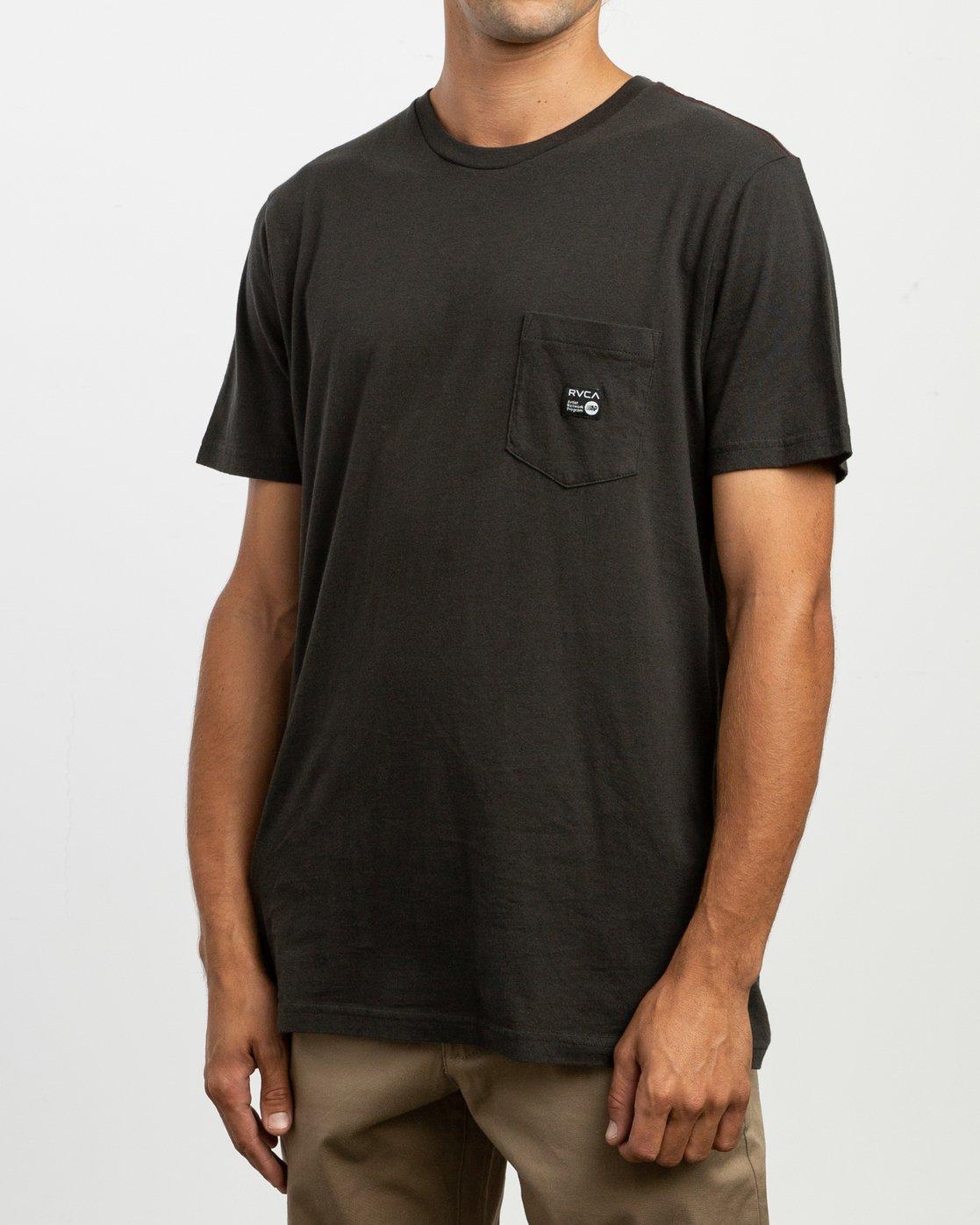 2 ANP Pocket T-Shirt Black M436TRAN RVCA