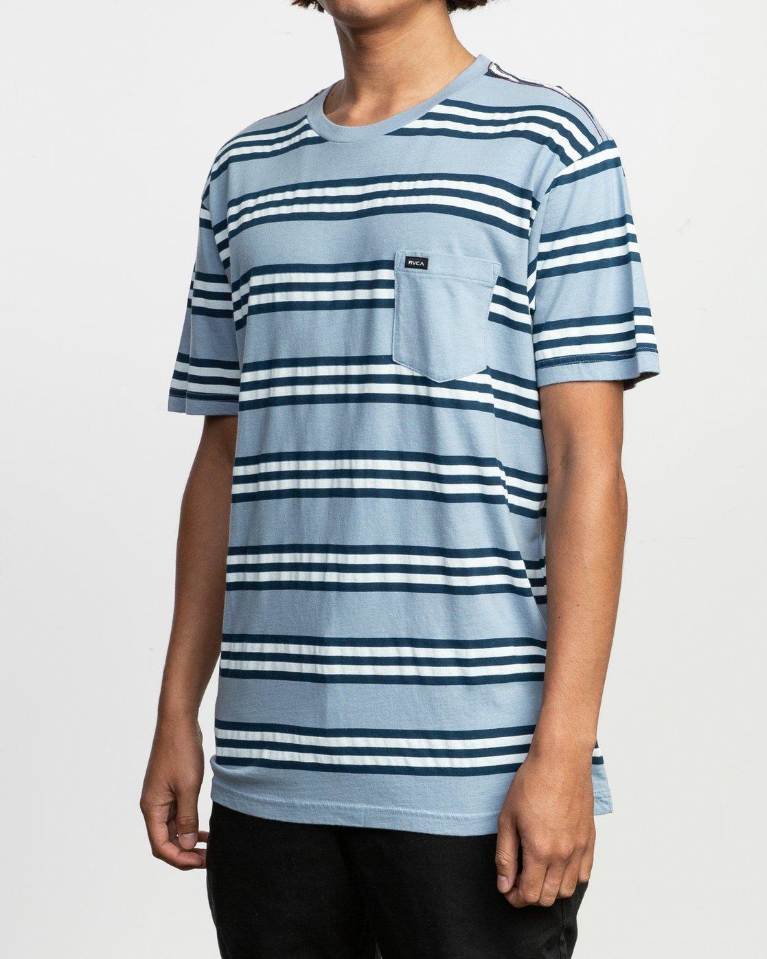 2 Ferris Striped T-Shirt  M436TRFE RVCA