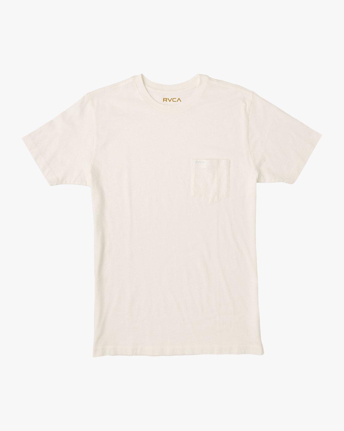 0 PTC Standard Wash T-Shirt White M436TRPT RVCA