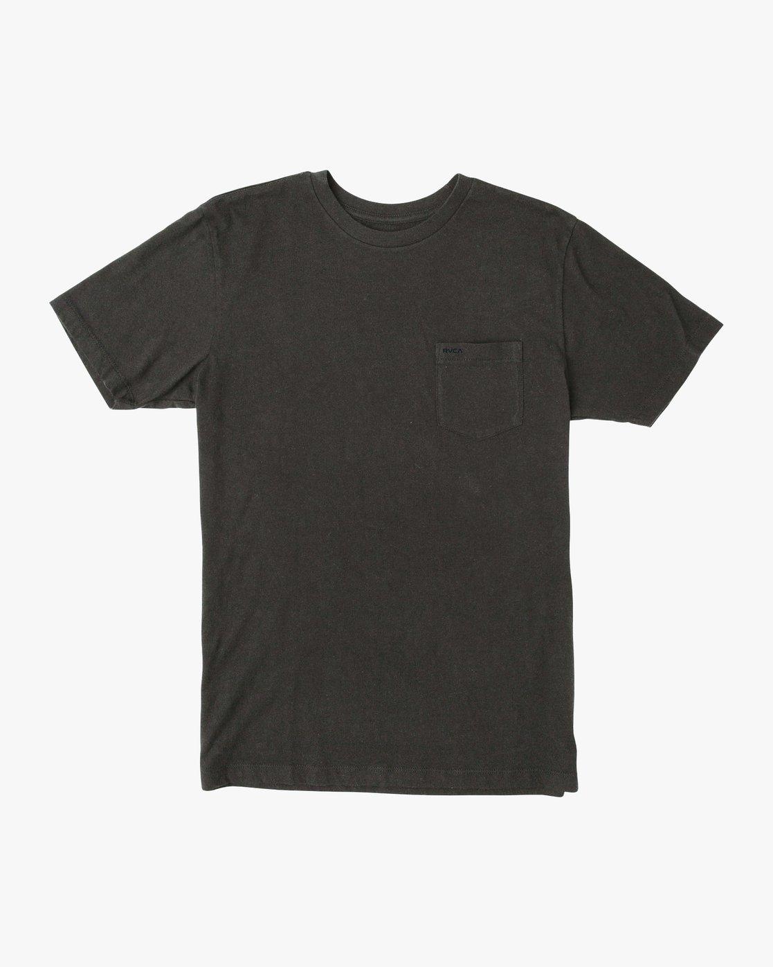 0 PTC Standard Wash T-Shirt Black M436TRPT RVCA