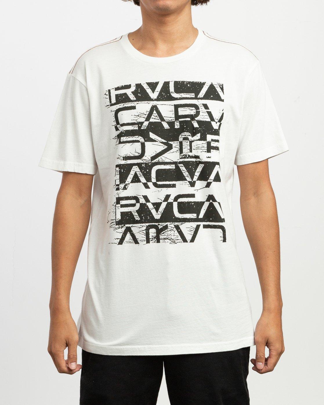 1 Staxt T-Shirt White M436TRST RVCA