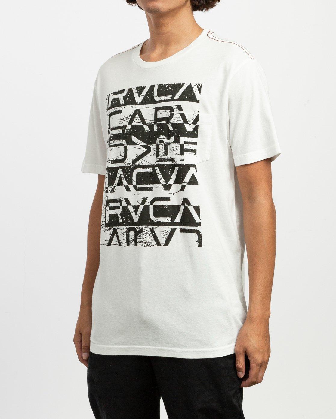 2 Staxt T-Shirt White M436TRST RVCA