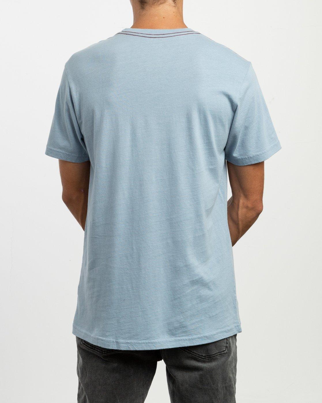 3 Staxt T-Shirt Blue M436TRST RVCA