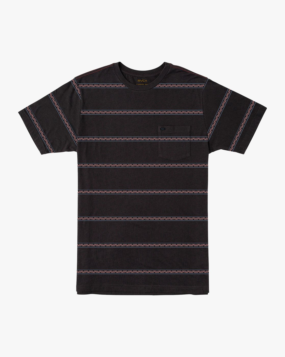 0 Retro VA Striped T-Shirt Black M436URRV RVCA