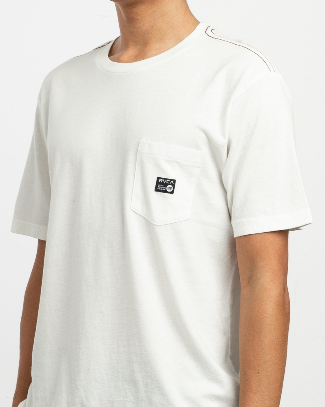 4 ANP Pocket T-Shirt White M436VRAN RVCA