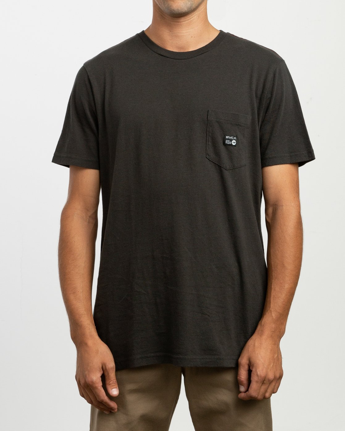 1 ANP Pocket T-Shirt Black M436VRAN RVCA