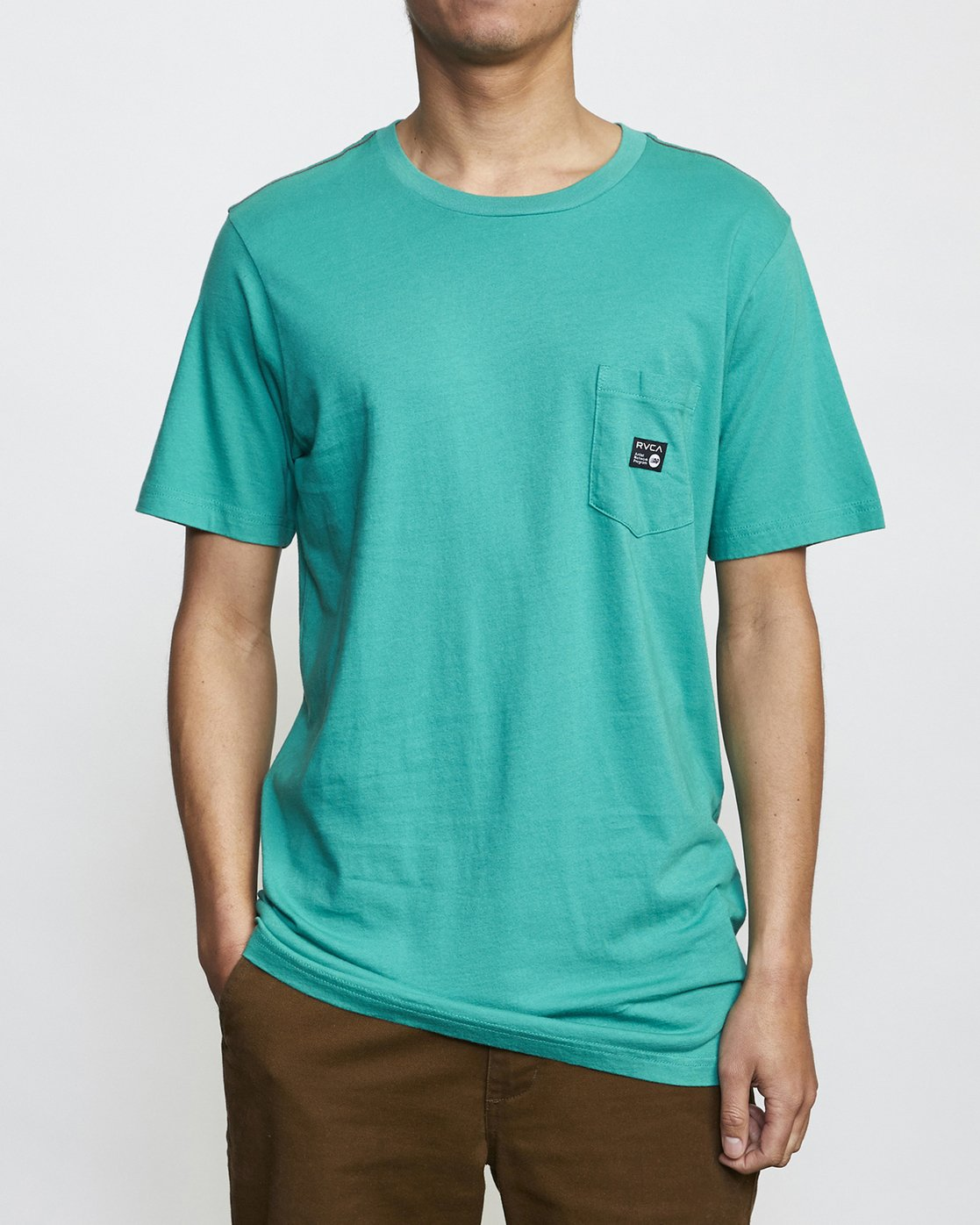0 ANP Pocket T-Shirt Green M436VRAN RVCA