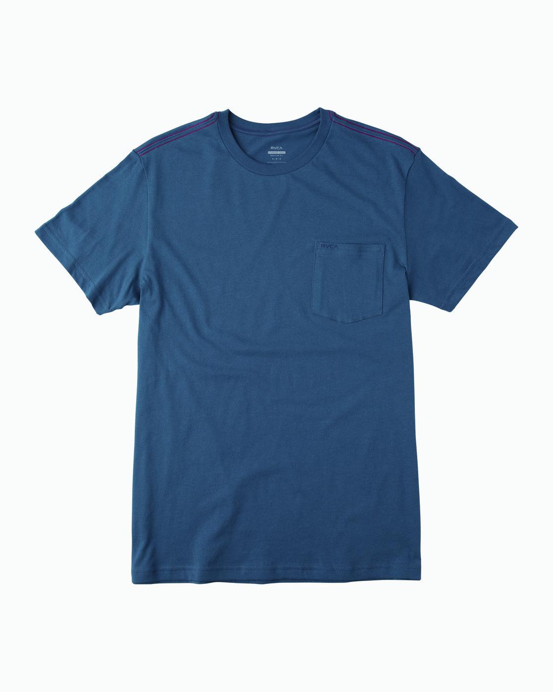 1 PTC STANDARD WASH SHORT SLEEVE TEE Blue M436VRPT RVCA