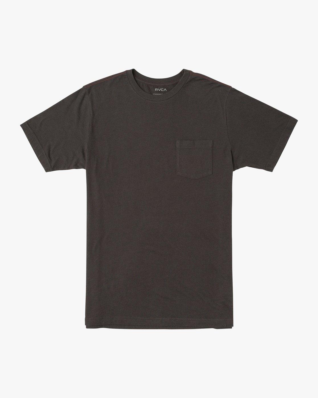 0 PTC Standard Wash T-Shirt Black M436VRPT RVCA