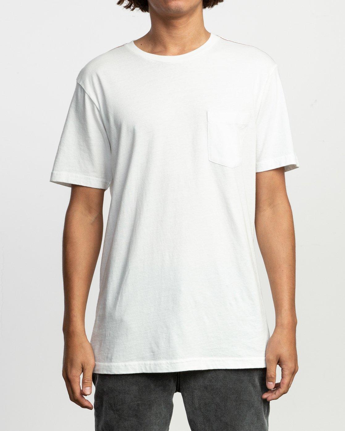 1 PTC Standard Wash T-Shirt White M436VRPT RVCA