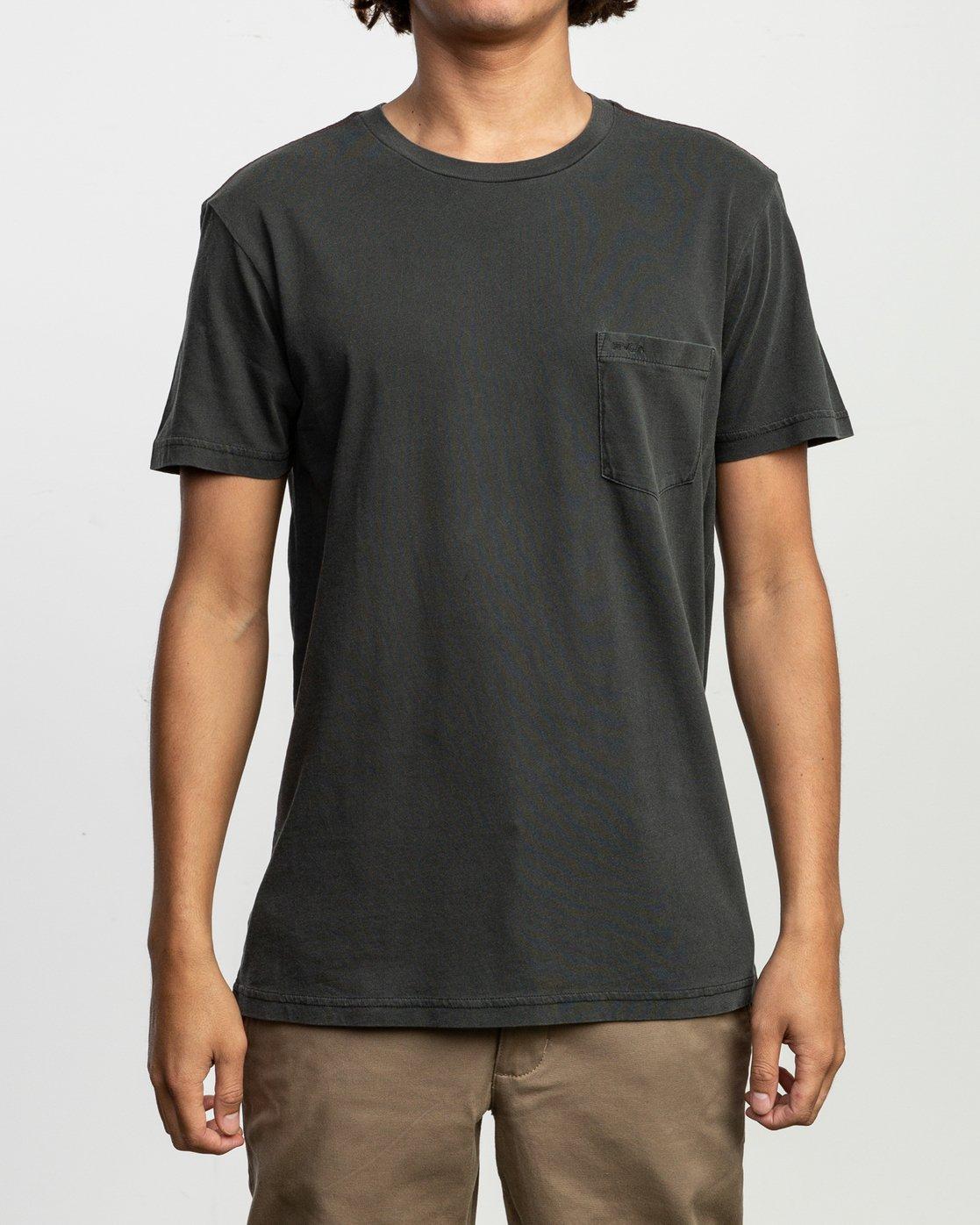 1 PTC Standard Wash T-Shirt Black M436VRPT RVCA