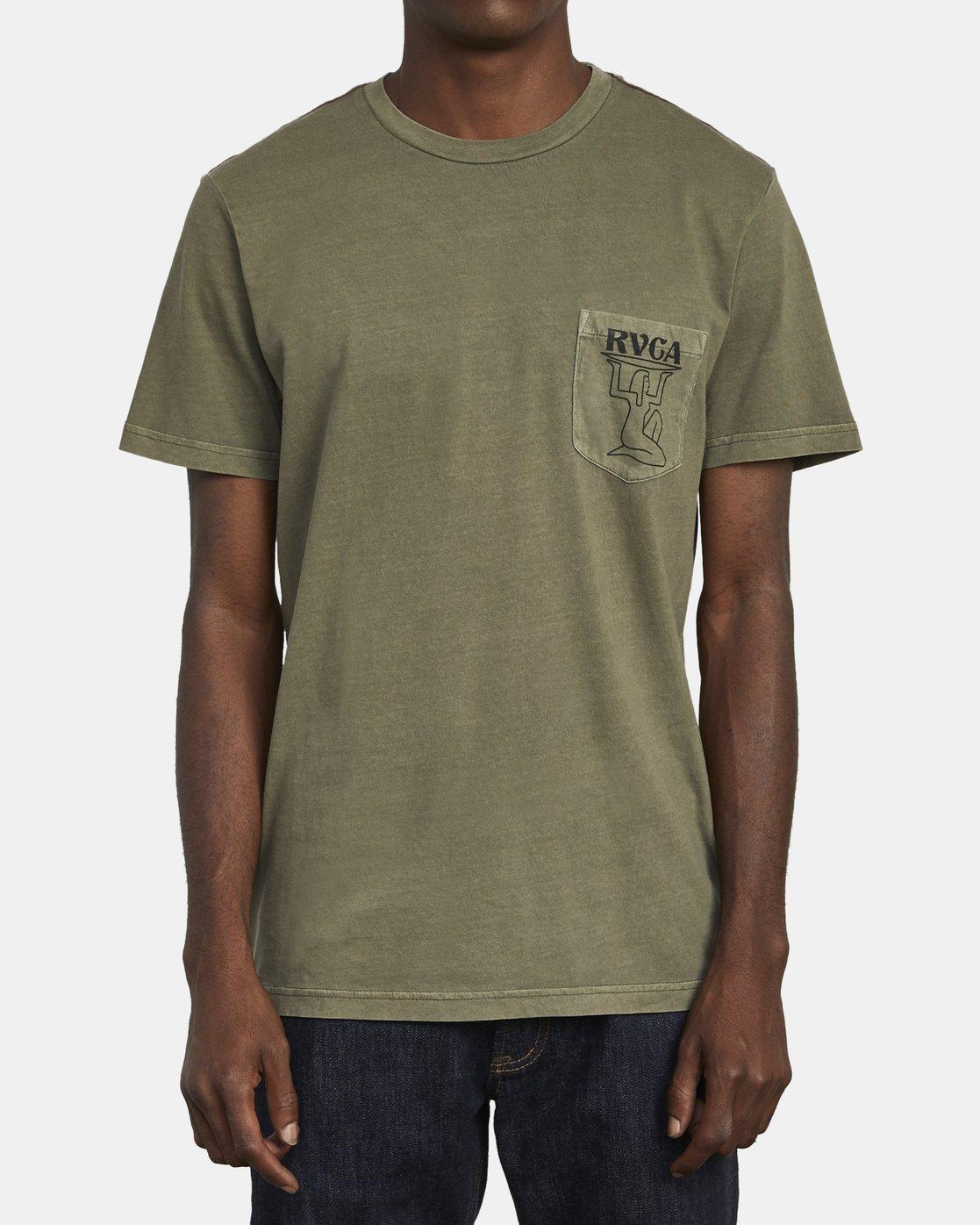 1 RAMSES T-SHIRT Green M4371RRA RVCA