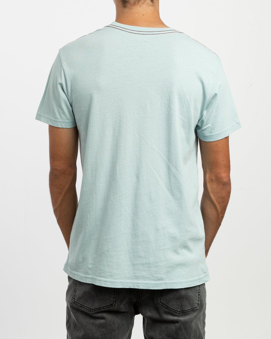 4 PTC 2 Pigment T-Shirt Blue M437TRPT RVCA