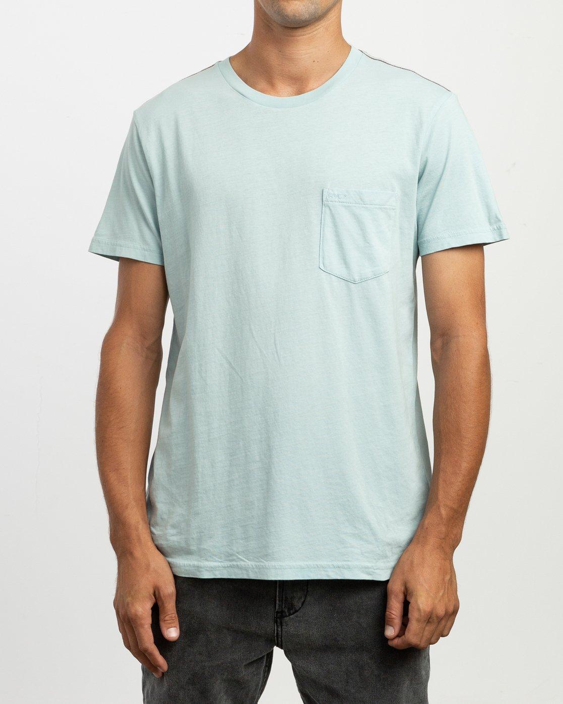 2 PTC 2 Pigment T-Shirt Blue M437TRPT RVCA