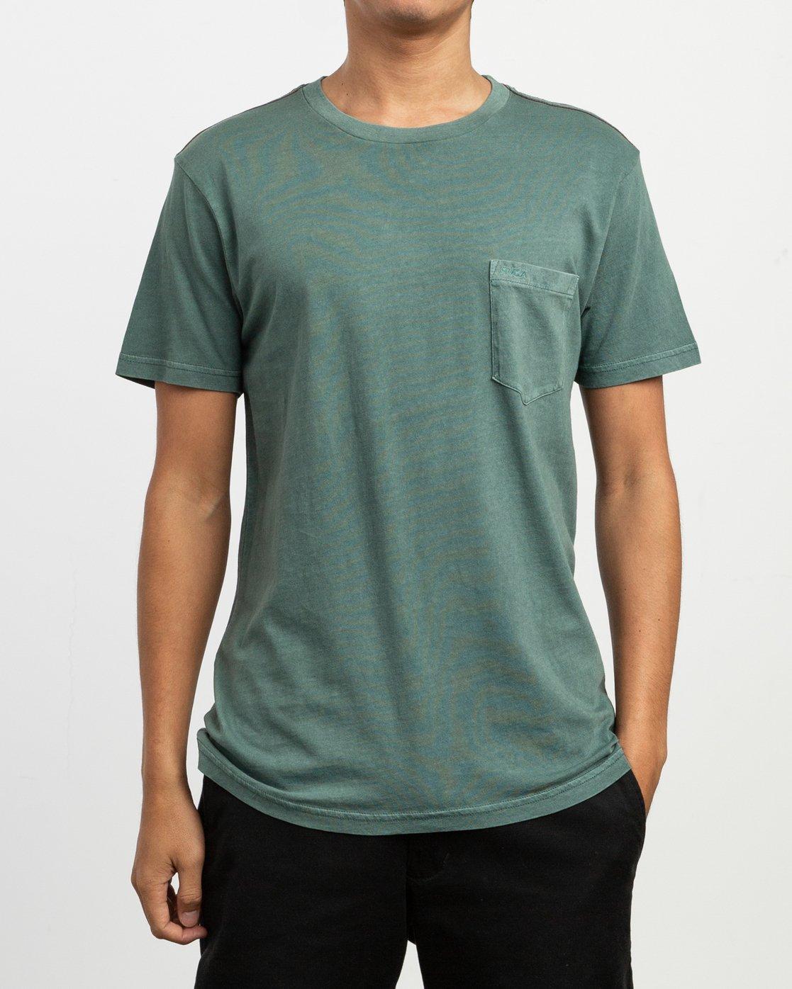1 PTC 2 Pigment T-Shirt Green M437TRPT RVCA
