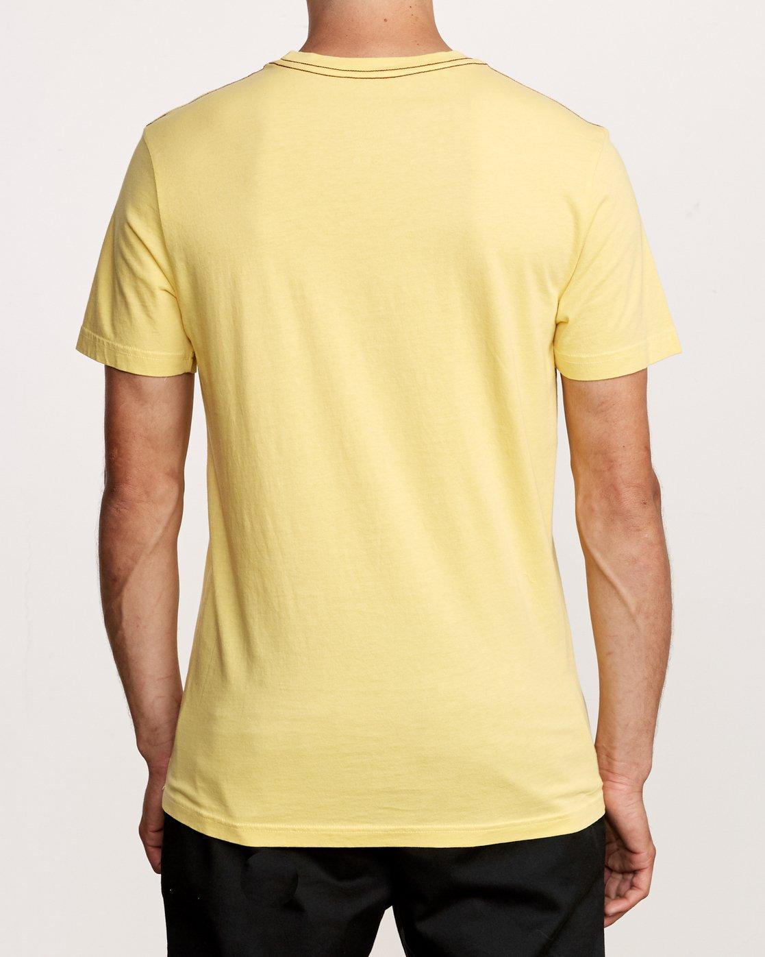 3 PTC 2 Pigment T-Shirt Yellow M437VRPT RVCA