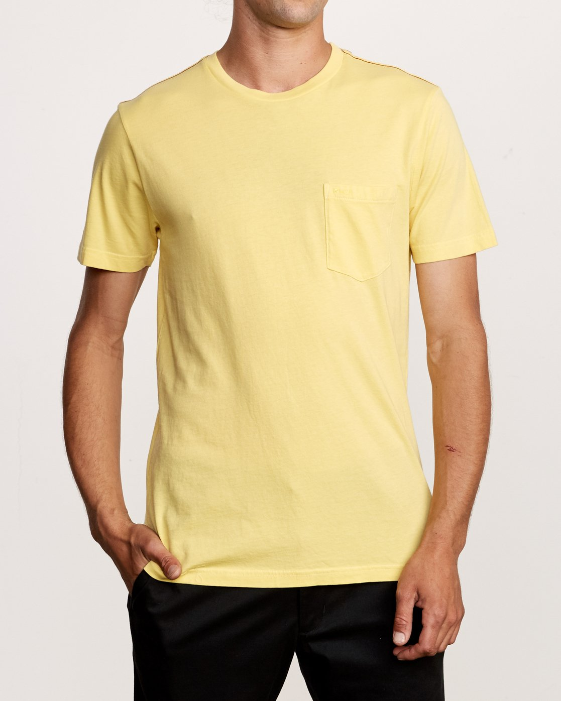 1 PTC 2 Pigment T-Shirt Yellow M437VRPT RVCA