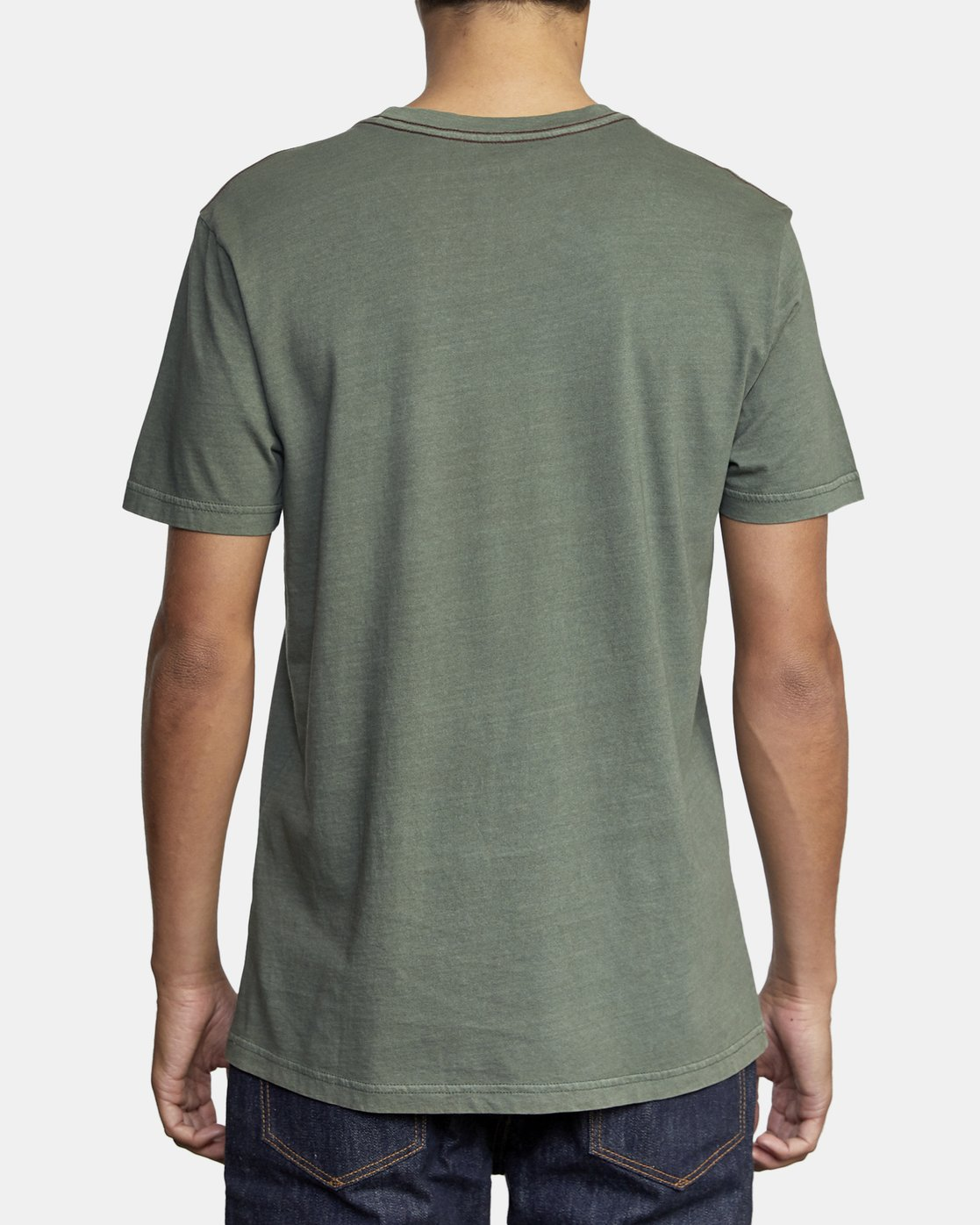 3 PTC II PIGMENT SHORT SLEEVE TEE Green M437VRPT RVCA