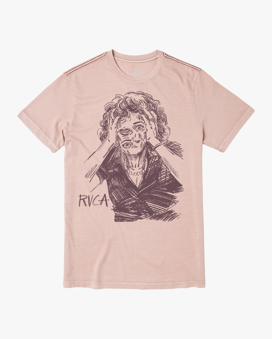 0 CHANGING FACE SHORT SLEEVE TEE Grey M4383RCF RVCA