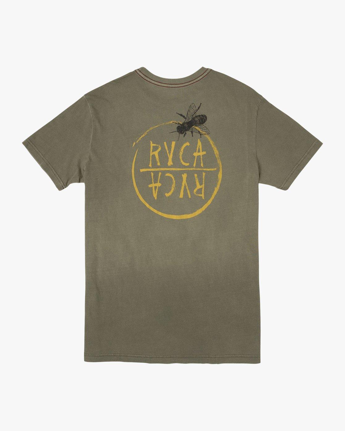 0 Ben Horton Hivemind T-Shirt Green M438TRHI RVCA