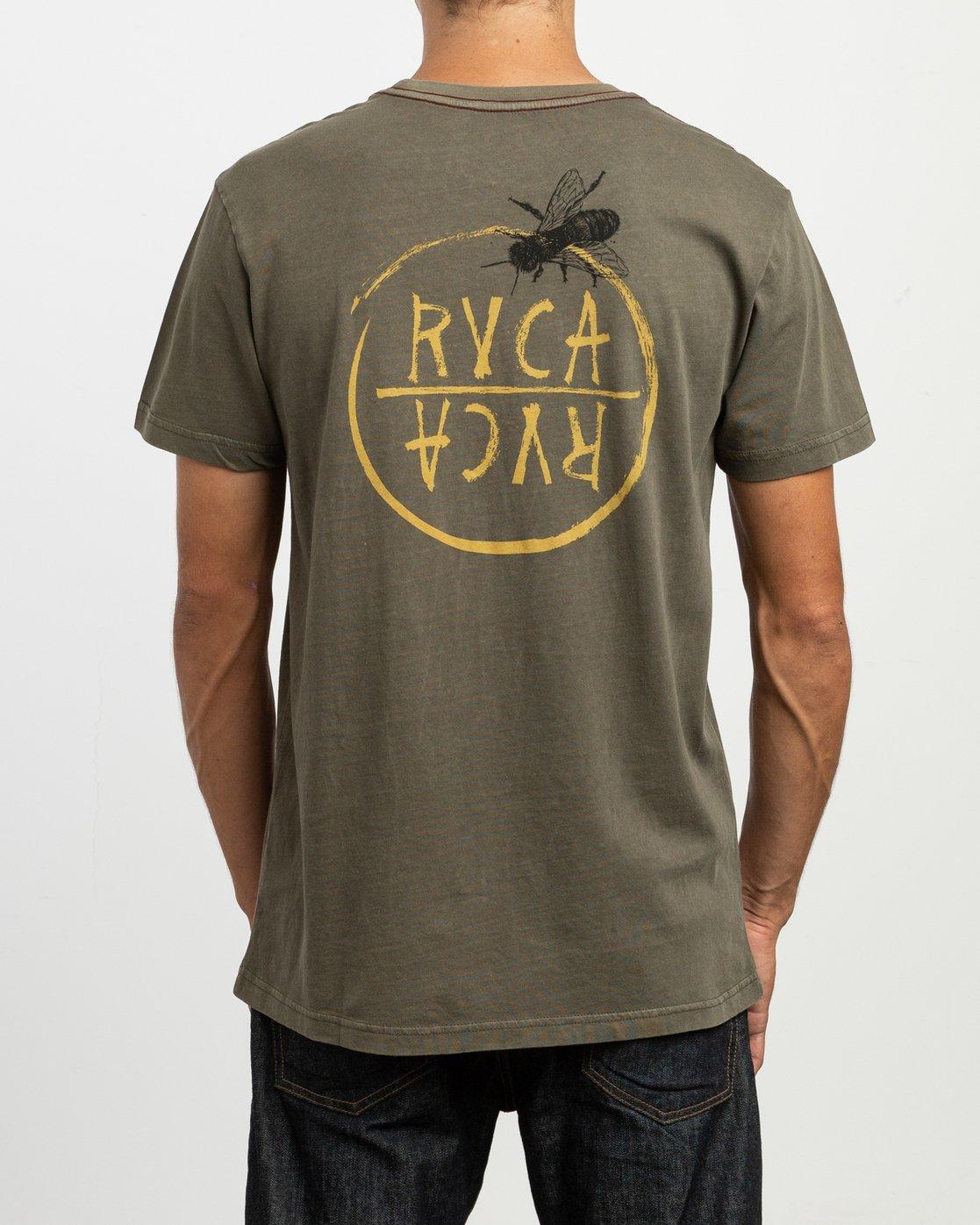 4 Ben Horton Hivemind T-Shirt Green M438TRHI RVCA