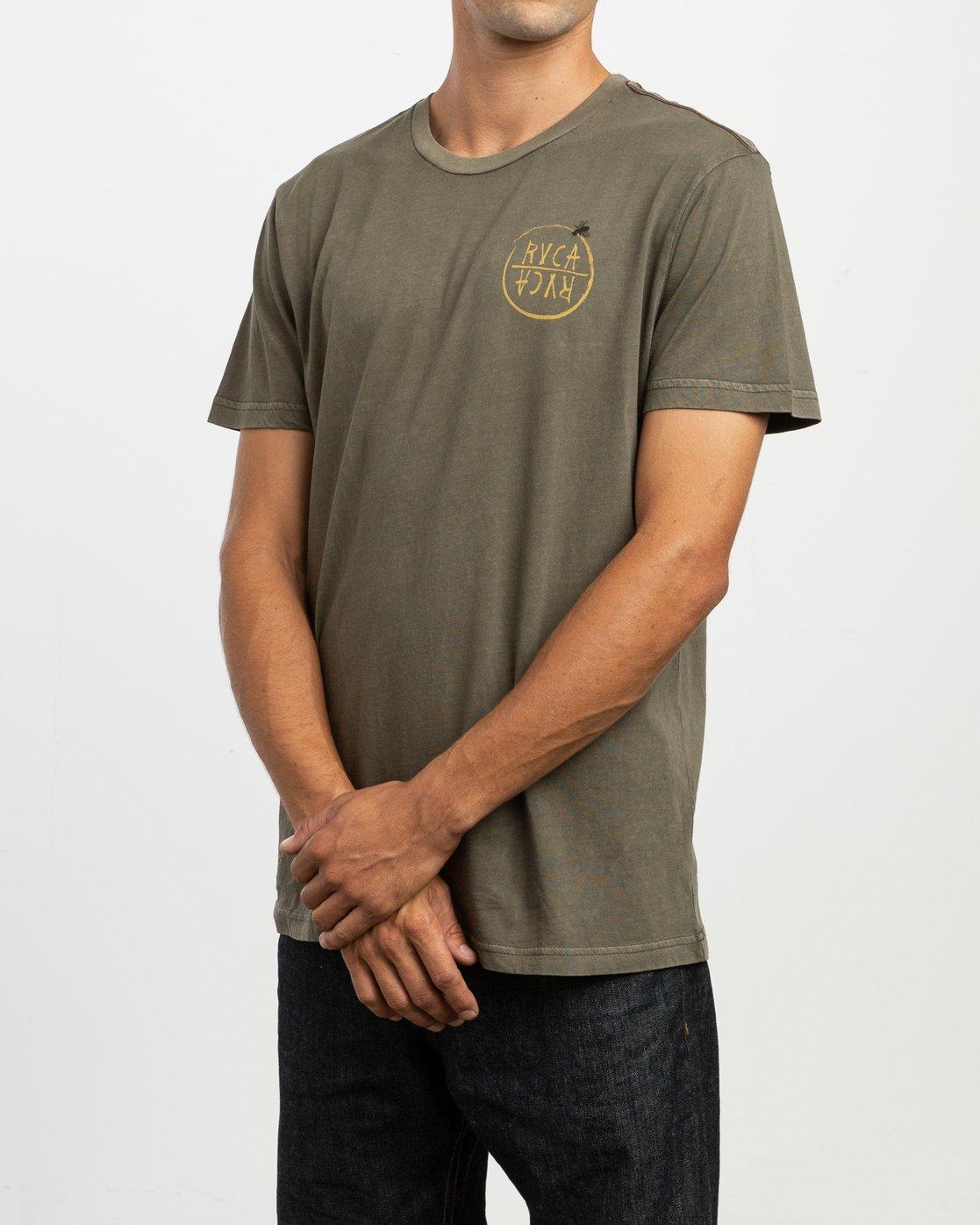 3 Ben Horton Hivemind T-Shirt Green M438TRHI RVCA