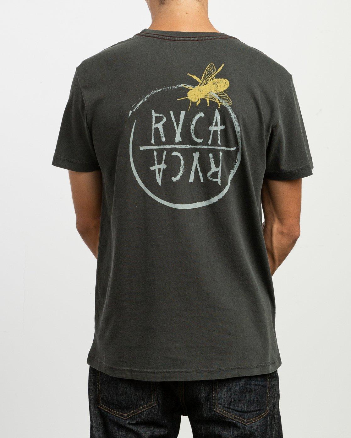 4 Ben Horton Hivemind T-Shirt Black M438TRHI RVCA