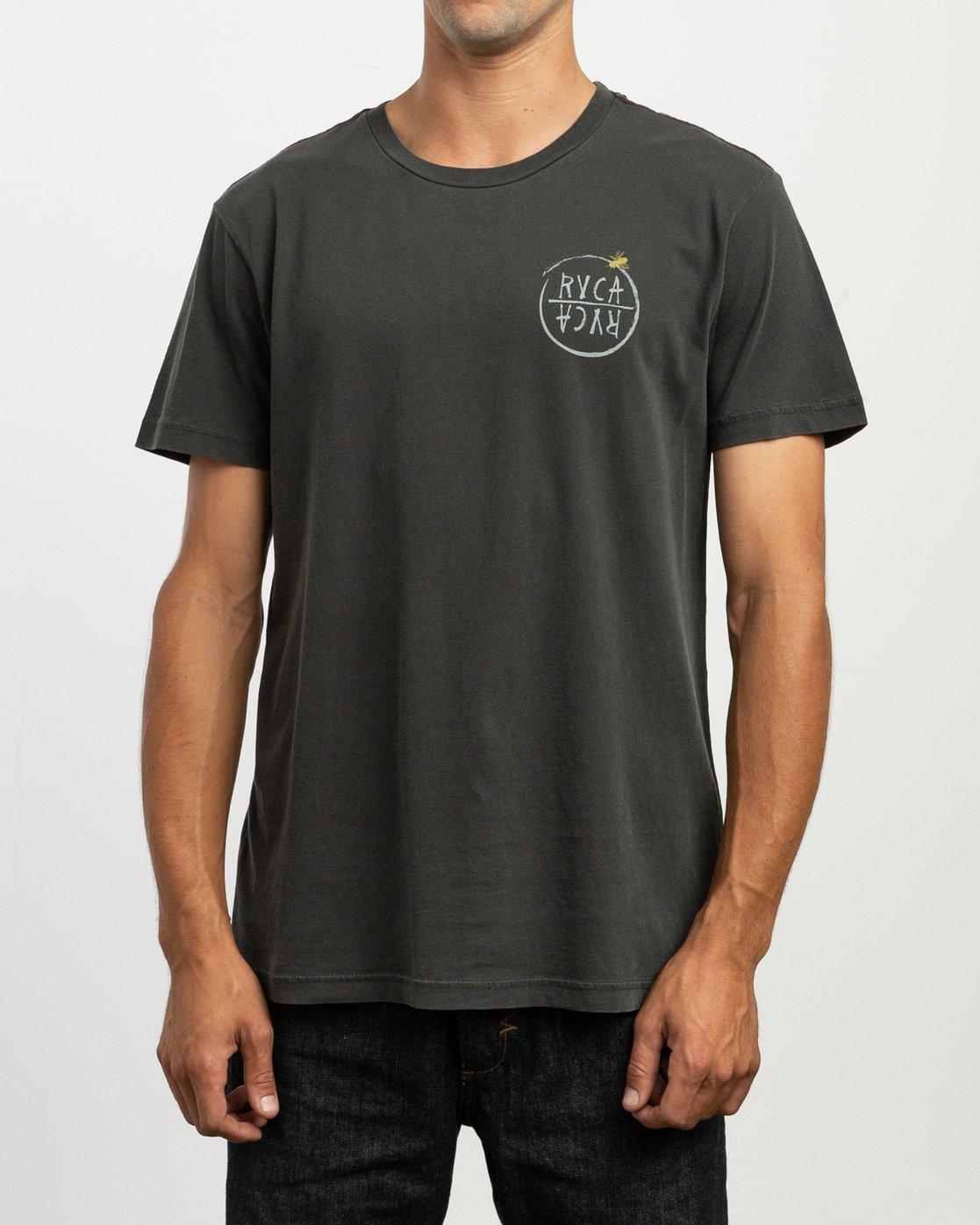 2 Ben Horton Hivemind T-Shirt Black M438TRHI RVCA