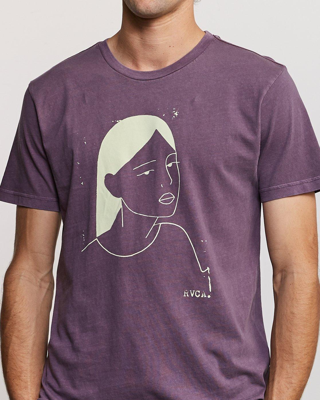 5 Johanna Olk Frosty Gaze T-Shirt Purple M438URFR RVCA