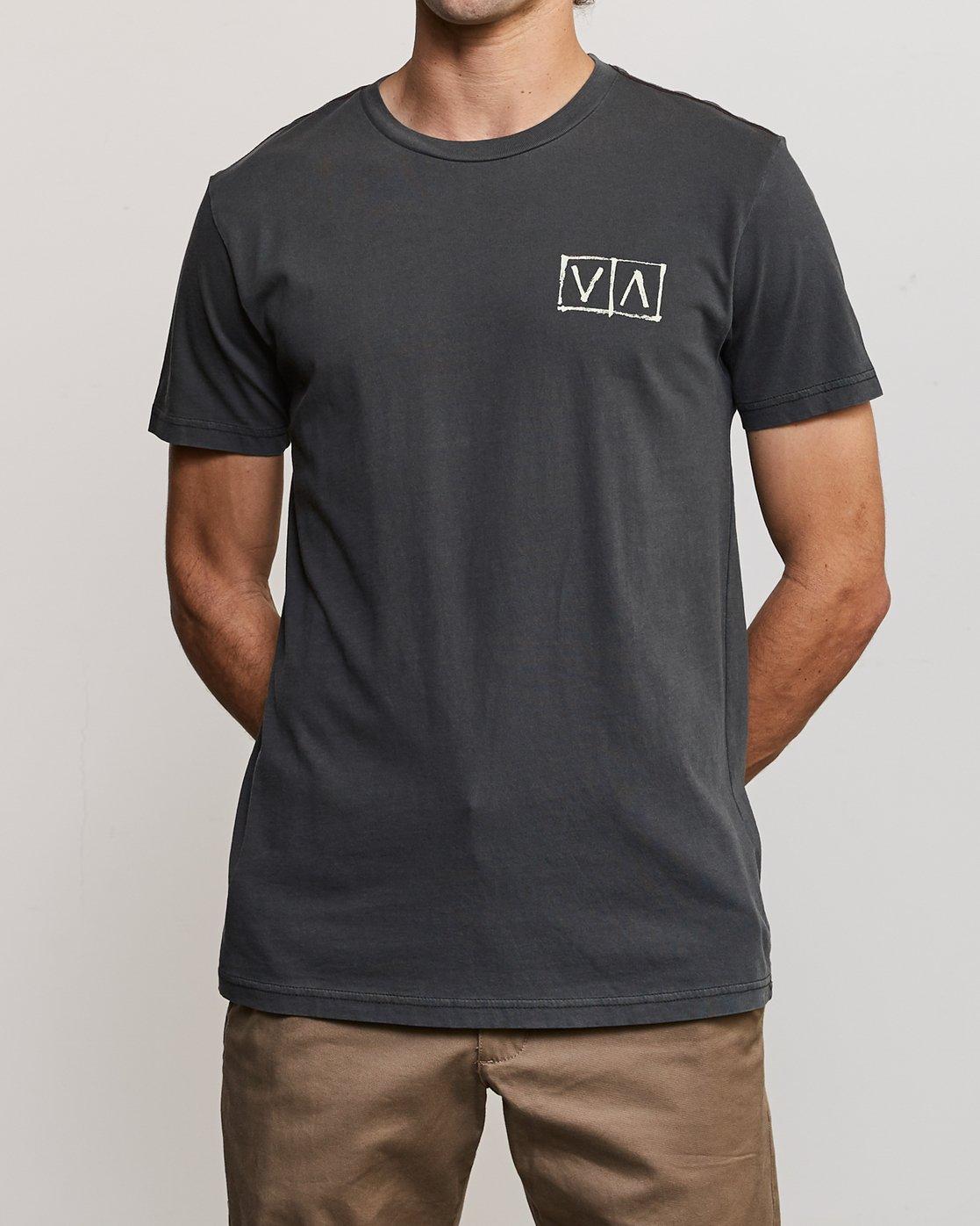 2 Ben Horton Box T-Shirt Black M438URHO RVCA
