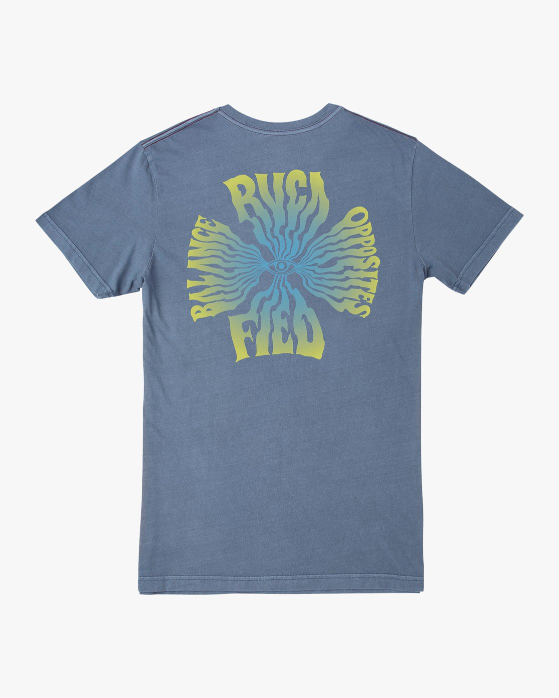 0 DMOTE Rvcafied T-Shirt Blue M438URRV RVCA