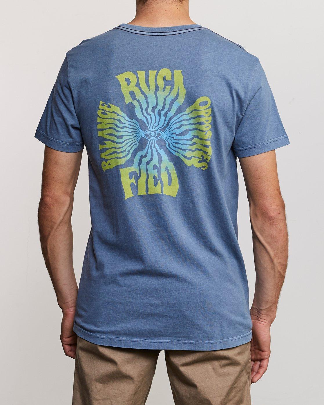 4 DMOTE Rvcafied T-Shirt Blue M438URRV RVCA