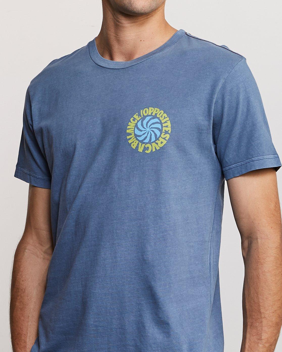 5 DMOTE Rvcafied T-Shirt Blue M438URRV RVCA