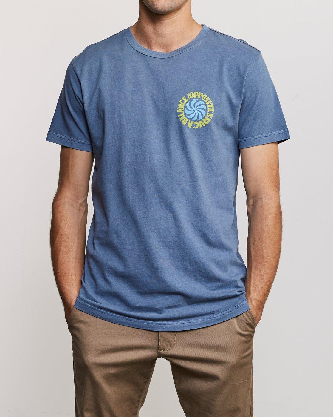 2 DMOTE Rvcafied T-Shirt Blue M438URRV RVCA