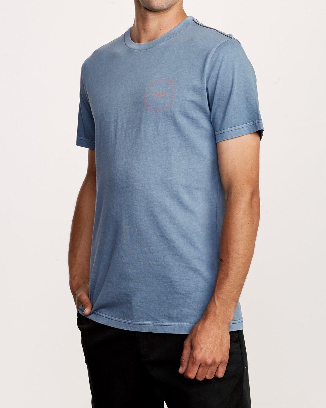 3 Hortonsphere T-Shirt Blue M438VRHO RVCA