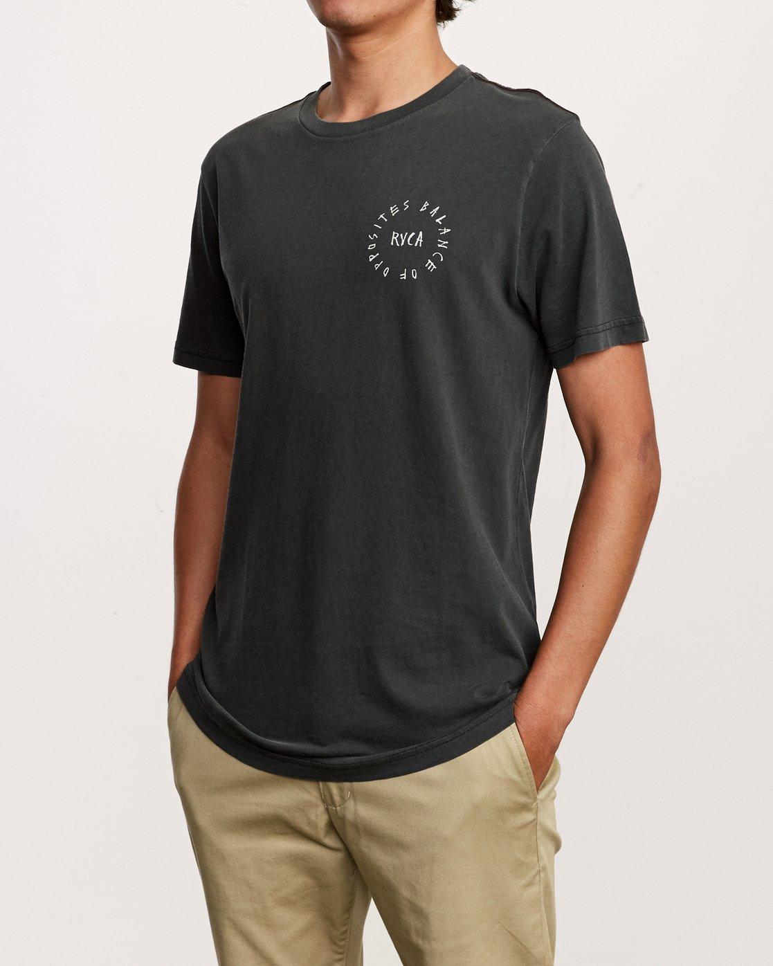 3 Hortonsphere T-Shirt Black M438VRHO RVCA