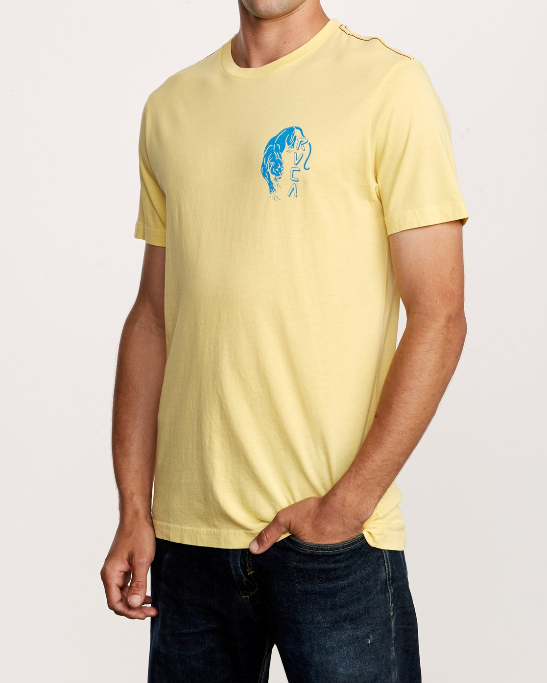 3 Prowler T-Shirt Yellow M438VRPR RVCA