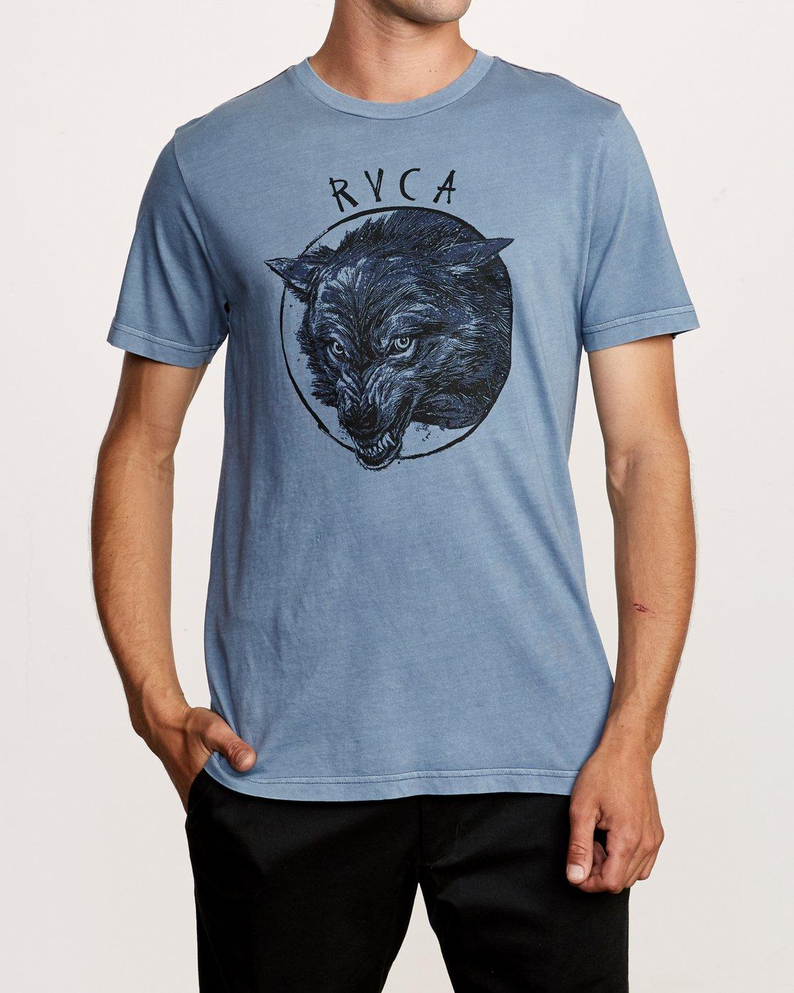 1 Ben Horton Snarl T-Shirt Blue M438VRSN RVCA