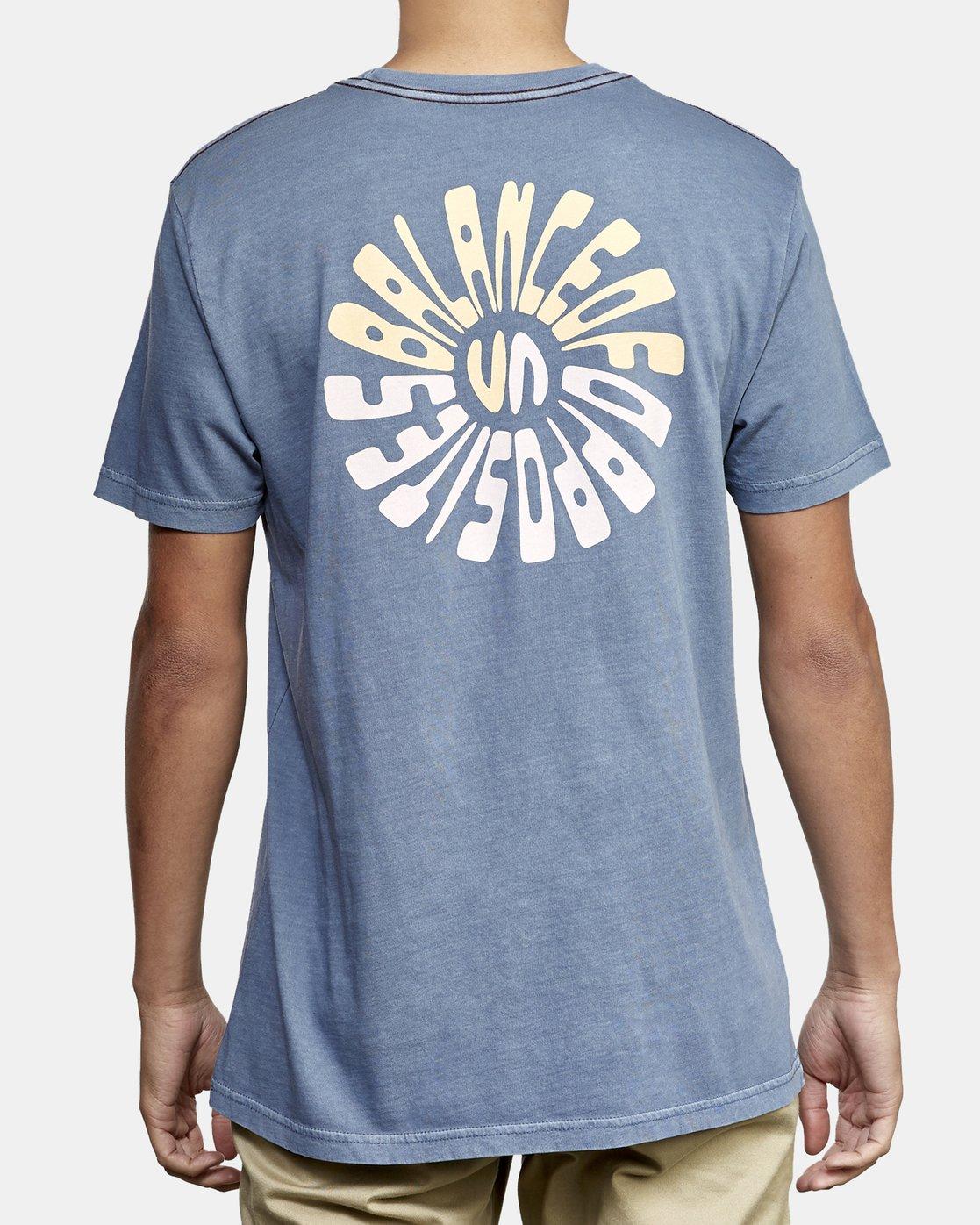 4 Impulse T-Shirt Blue M438WRIM RVCA