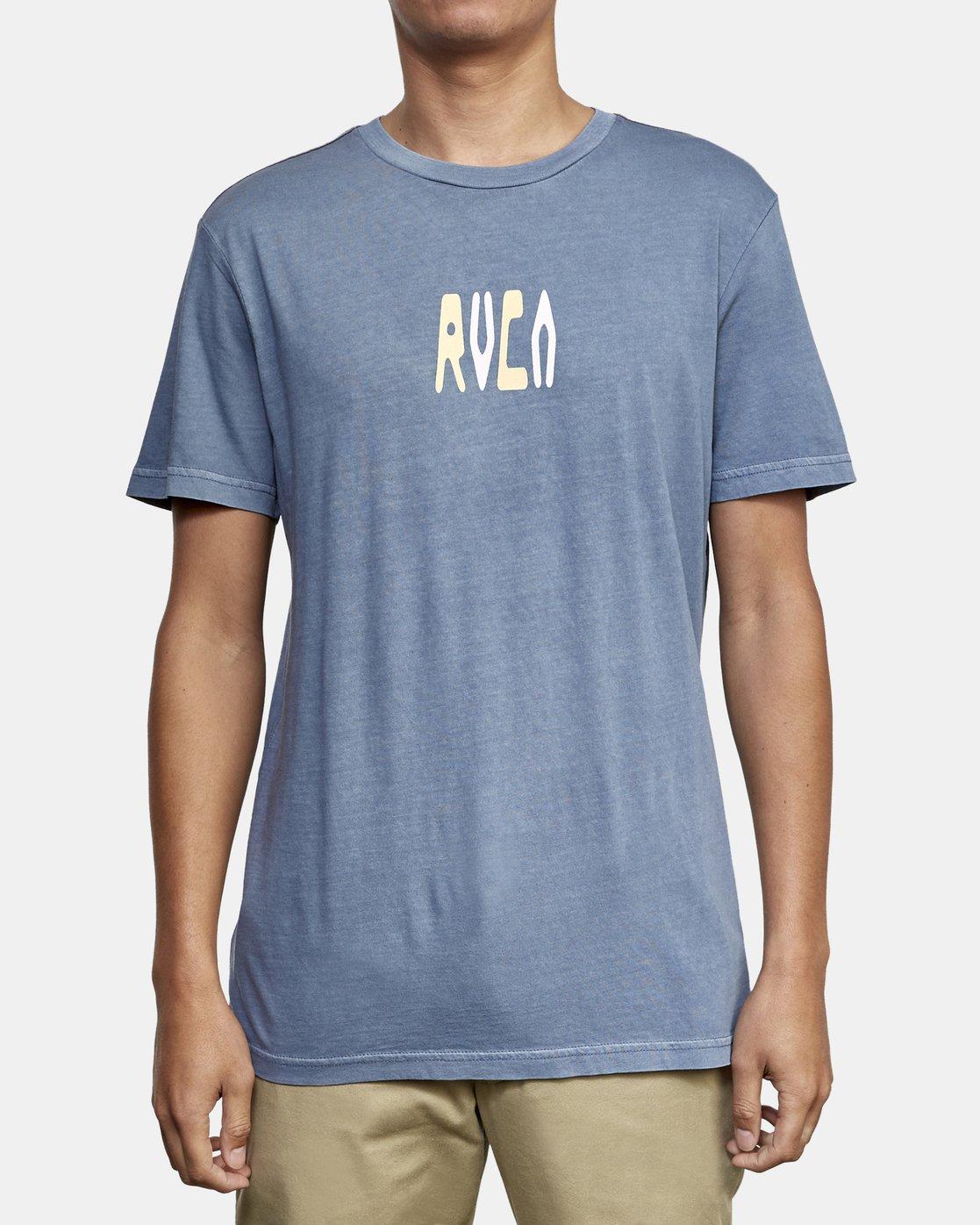 2 Impulse T-Shirt Blue M438WRIM RVCA