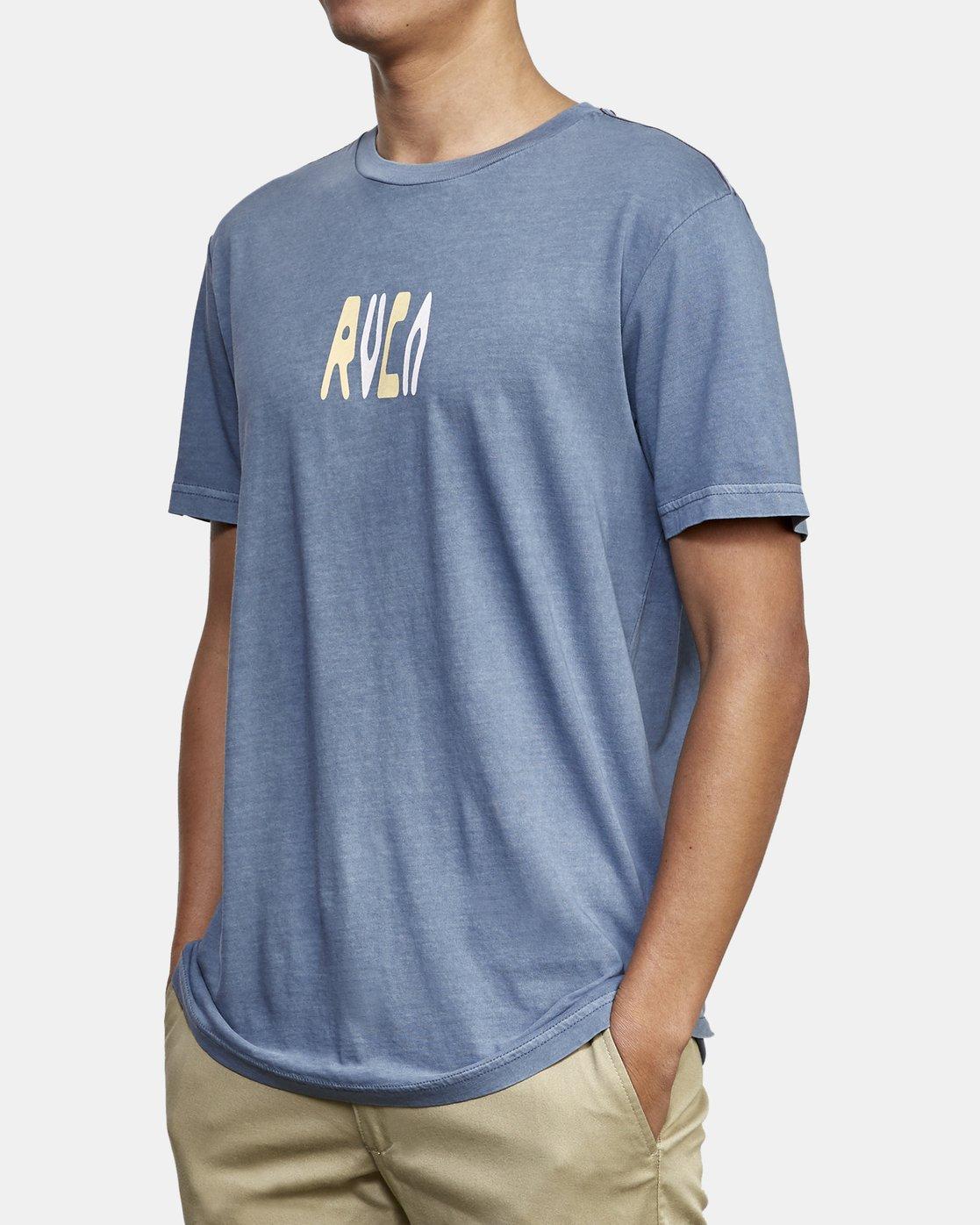 3 Impulse T-Shirt Blue M438WRIM RVCA