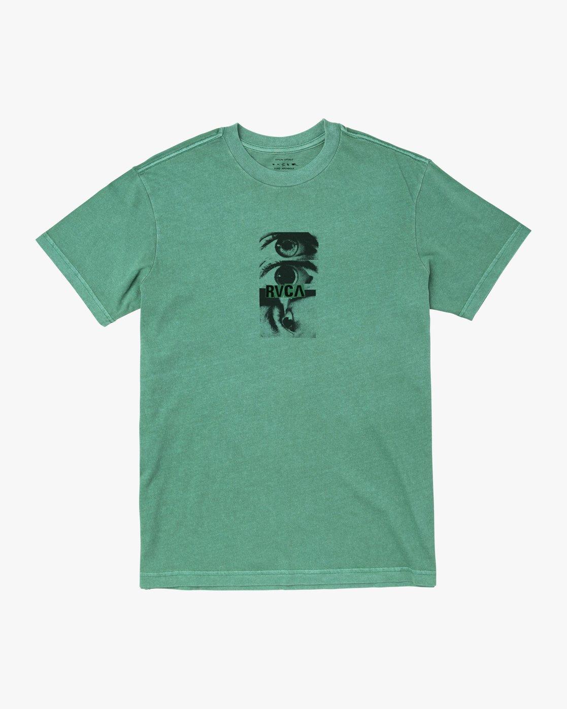 0 EYES TEE Green M4411REY RVCA