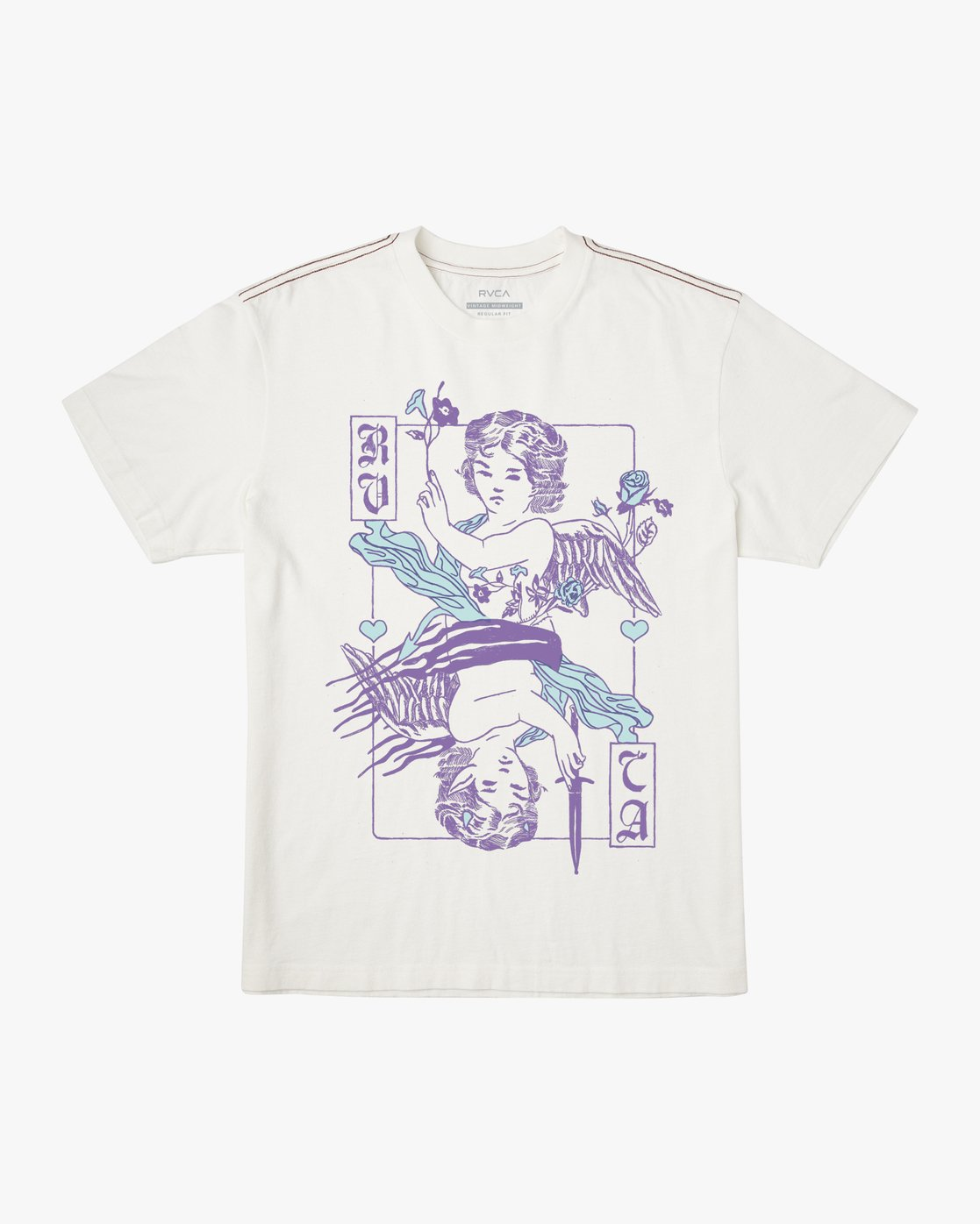 0 GOOD VS EVIL SHORT SLEEVE T-SHIRT White M4413RGO RVCA
