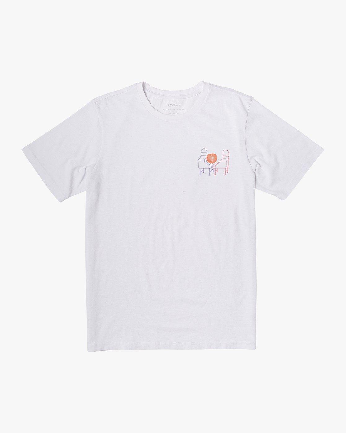 1 Spanky Sketchbook T-Shirt White M441WRSK RVCA